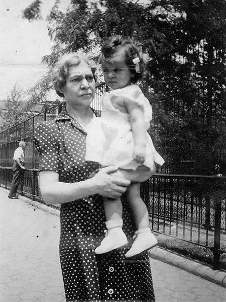 Filomena Capaldi - with Carole circa 1950 in USA